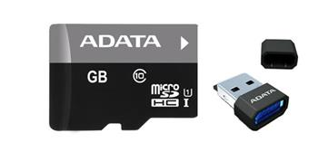 A-DATA microSDHC 16 GB class 10 + adapter V3 (AUSDH16GUICL10-RM3BKBL)