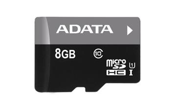 A-DATA microSDHC 8 GB class 10 + adapter (AUSDH8GUICL10-RA1)