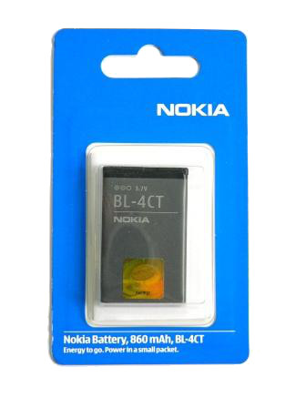 BL-4CT Nokia baterie 860mAh Li-Ion (EU Blister 2:2) (2720f,5310 XM,5630XM,6600f,6700s,7210 Supernova,7230,7310 Supernova X3)