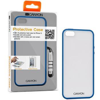 Canyon CNA-I5C01 obal pre iPhone5/5S, z TPU materiálu, vrátane stylusa a ochrannej fóliie na displej, modré (CNA-I5C01BL)