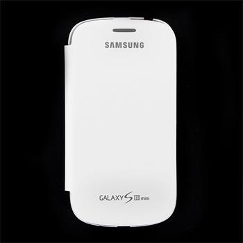 EFC-1M7FWE Samsung Flip Pouzdro pro Galaxy S3mini i8190, S3 mini i8200 VE biela