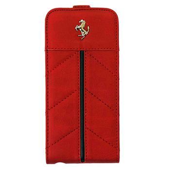 FECFFL5R Ferrari Kožené Flip Pouzdro California pro iPhone 5, 5S Red