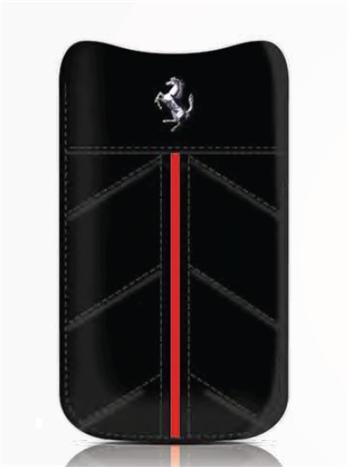 FECFSLLB Ferrari California Kožené Pouzdro Black vel. L