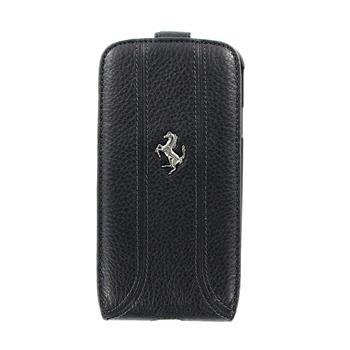 FEFFFLS3BL Ferrari Kožené Flip Pouzdro Black pro Samsung Galaxy S3 i9300
