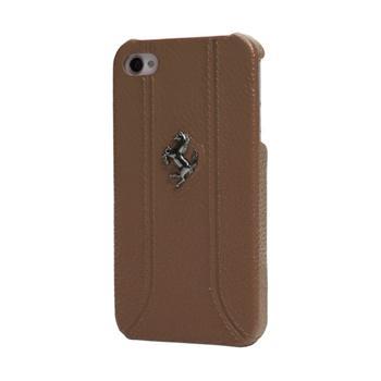FEFFHCP5KA Ferrari Zadní Kožený Kryt pro iPhone 5, 5S Kamel