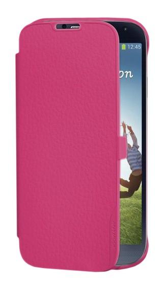 FOLIOSMGS4P Made by Samsung Kožené Folio Pouzdro Pink pro S4 i9505 (EU Blister)
