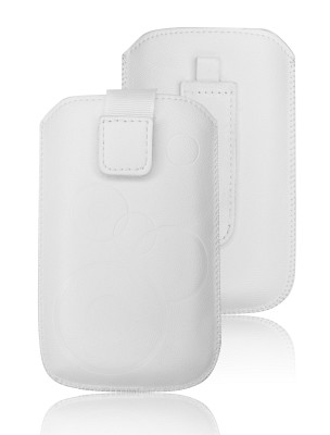 ForCell Deko Pouzdro Biele pro HTC Desire C, Samsung S6500, S5360,...