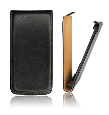 ForCell Slim Flip Pouzdro Čierne pro Samsung N7100 Galaxy Note2