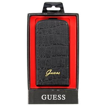 GUFLS3CMB Guess Croco Čierne Flip Pouzdro pro Samsung (i9300/S3 i9301 Neo) (EU Blister)