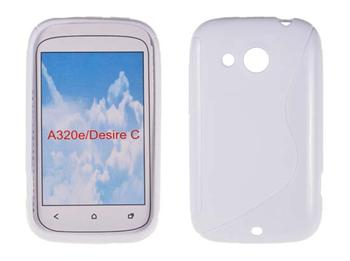 Gumené puzdro HTC Desire C, Biele