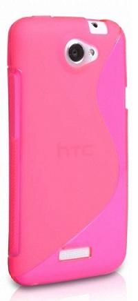 Gumené puzdro HTC One M7 ruzove