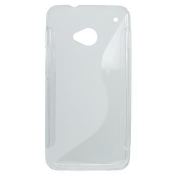 Gumené puzdro HTC One M7 transparentné