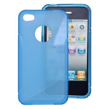 Gumené puzdro iPhone 4 modré