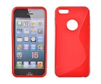 Gumené puzdro iPhone 5/5S/SE červene