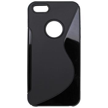 Gumené puzdro iPhone 5/5S/SE čierne S-line