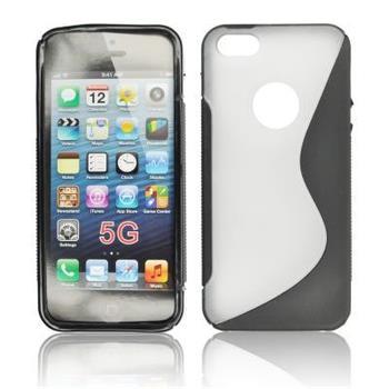 Gumené puzdro iPhone 5/5S/SE Transparente / cierne