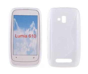 Gumené puzdro Nokia Lumia 610 biele