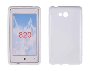 Gumené puzdro Nokia Lumia 820 Biele