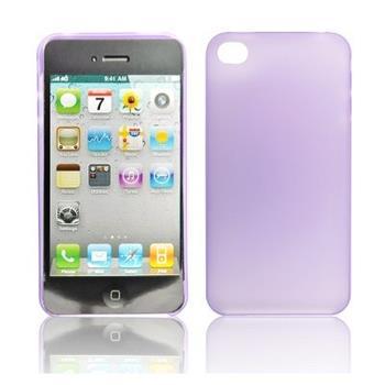 Gumené puzdro pre iPhone 4/4S svetlo fialove