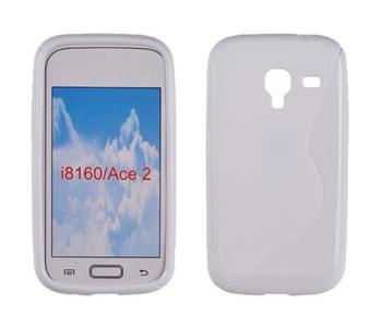 Gumené puzdro Samsung Galaxy Ace 2 i8160 Biele