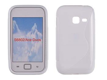 Gumené puzdro Samsung Galaxy Ace Duos S6802 biele