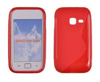Gumené puzdro Samsung Galaxy Ace Duos S6802 Oranžové