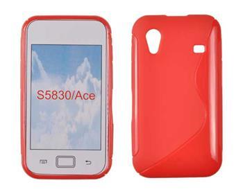 Gumené puzdro Samsung Galaxy Ace S5830 červená