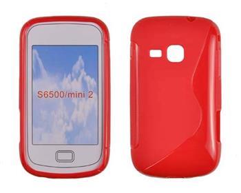 Gumené puzdro Samsung Galaxy Mini 2 S6500 cervene