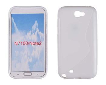 Gumené puzdro Samsung Galaxy Note 2 N7100 Biele