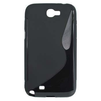 Gumené puzdro Samsung Galaxy Note II N7100 čierne