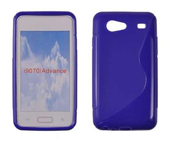 Gumené puzdro Samsung Galaxy S Advance i9070 Modre