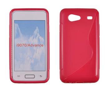 Gumené puzdro Samsung Galaxy S Advance i9070 tmavo ružové