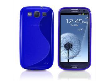 Gumené puzdro Samsung Galaxy SIII (i9300/S3 i9301 Neo) Modré