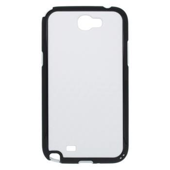 Gumené puzdro Samsung N7100 Galaxy Note II bielo/čierne