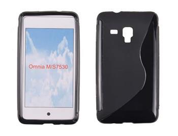 Gumené puzdro Samsung Omnia M S7530 Čierne