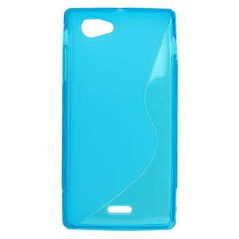 Gumené puzdro Sony Xperia J ST26i svetlo modré