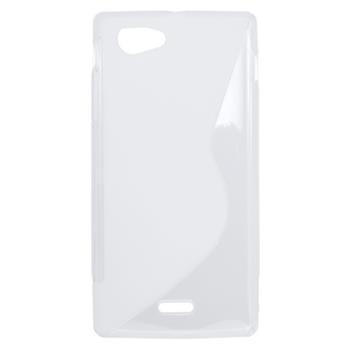 Gumené puzdro Sony Xperia J ST26i transparentna