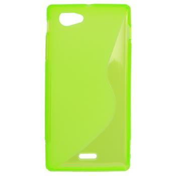 Gumené puzdro Sony Xperia J ST26i zelená