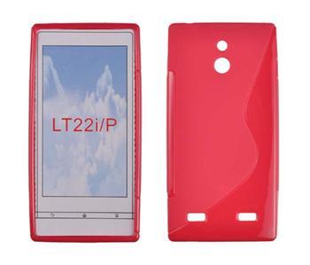 Gumené puzdro Sony Xperia P LT22i Červené
