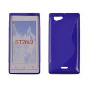 Gumené puzdro Sony Xperia S LT26i modre