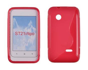 Gumené puzdro SonyXperiaTipo ST21i Červené