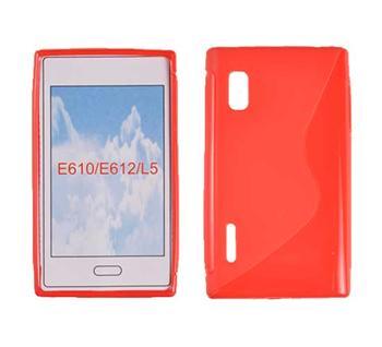 Gumené puzdro Swift LG L5/E610 Červená