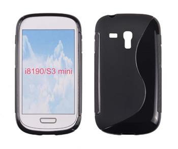 Gumové puzdro Samsung Galaxy S III Mini i8190, S3 mini i8200 VE čierne