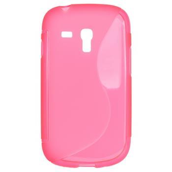 Gumové puzdro Samsung Galaxy S III Mini i8190, S3 mini i8200 VE ružová