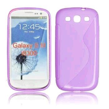 Gumové puzdro Samsung Galaxy S3 (i9300/S3 i9301 Neo) fialové