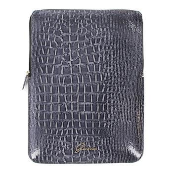 GUSL10CRG Guess Croco Grey Zipper Pouzdro pro iPad 2/3/4