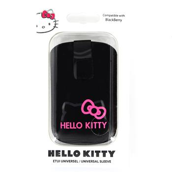 HKBBPUP1B Hello Kitty Pastel1 Universal Pouzdro Čierne (EU Blister), Nokia 302
