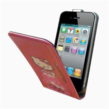 HKFLIP4P2PI Hello Kitty Flip Pouzdro Pastel2 pro iPhone 4/4S Pink (EU Blister)