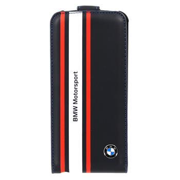 iPhone 5, 5S BMFLP5SN BMW Motorsport Flip Kožené Pouzdro Navy (EU Blister)