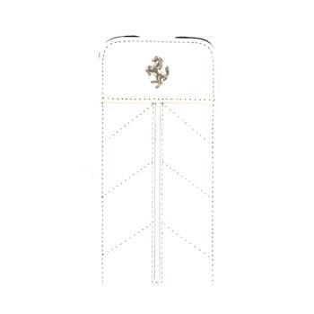 iPhone 5, 5S, SE FECFFL5FW Ferrari Kožené Flip Pouzdro Biele